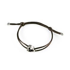 Armband Heart Brown Silver