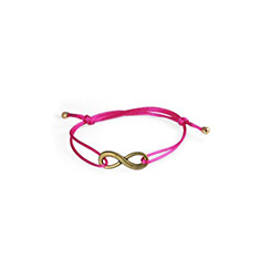 Armband Infinity hot pink