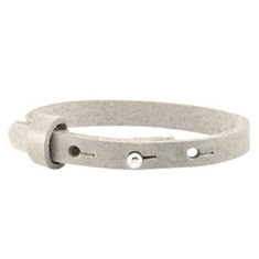 Cuoio armbanden leer 8 mm enkel voor 12 mm cabochon Light grey