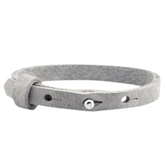 Cuoio armbanden leer 8 mm enkel voor 12 mm cabochon Natural grey