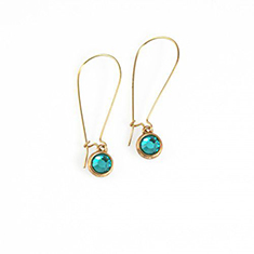 Dot loop oorbellen Blue Zircon