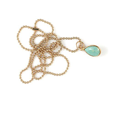 Necklace Swarovski Drop Pacific Opal Gold