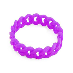 Siliconen armband chain neon paars